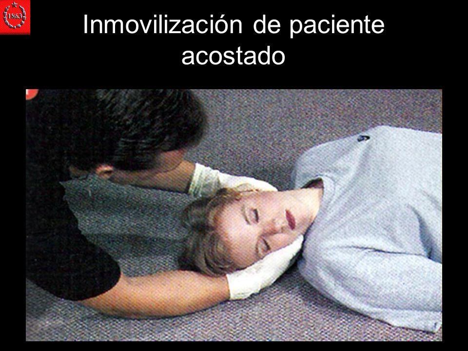 Inmovilización de paciente acostado