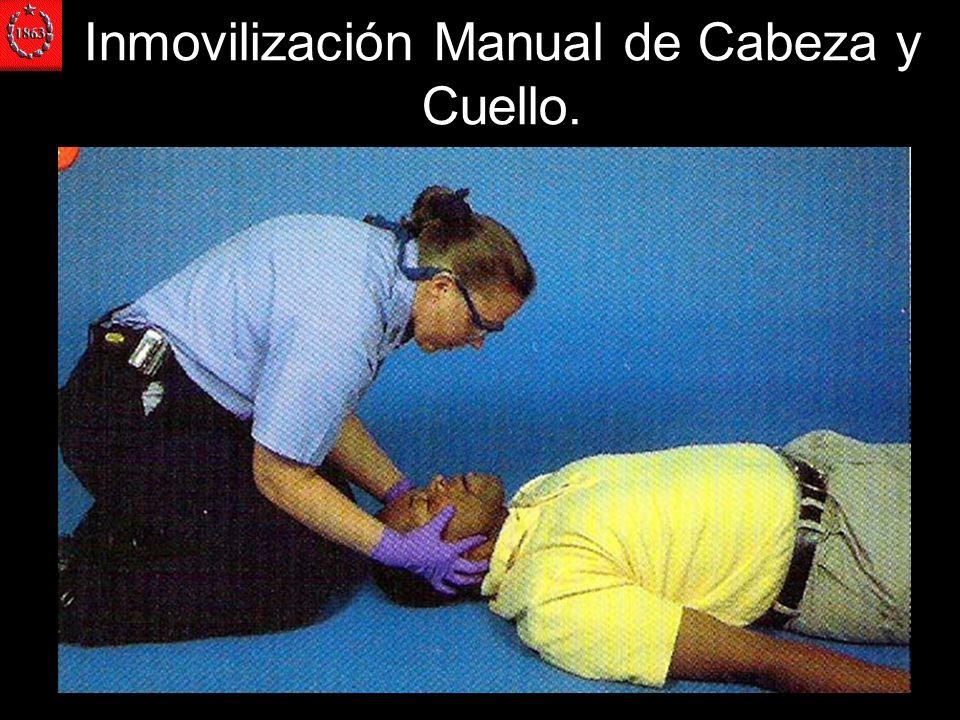 Inmovilización Manual de Cabeza y Cuello.