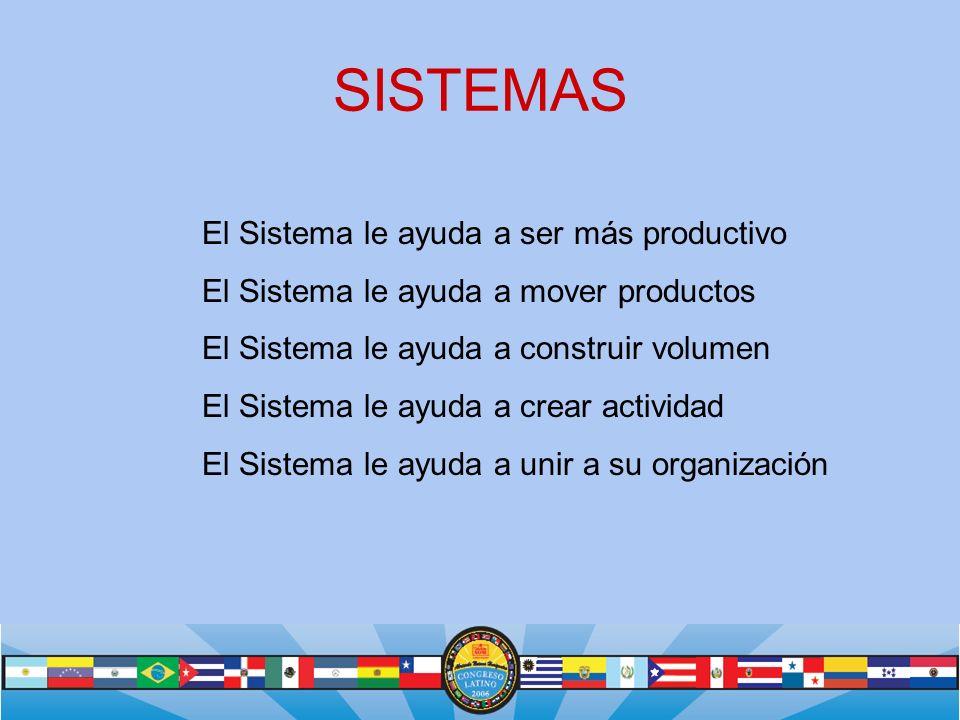 SISTEMAS El Sistema le ayuda a ser más productivo
