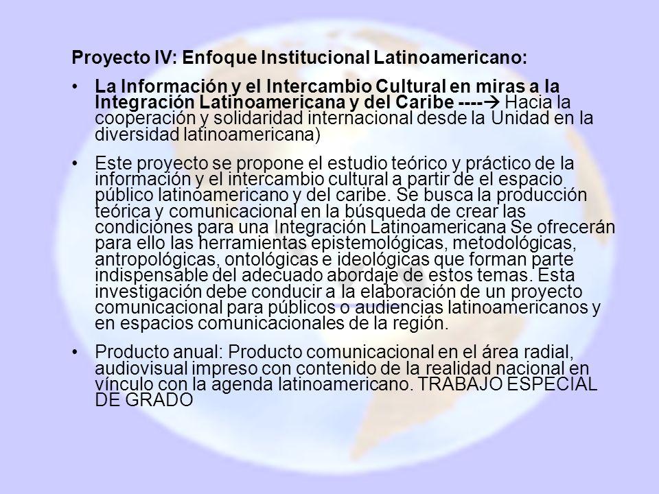 Proyecto IV: Enfoque Institucional Latinoamericano: