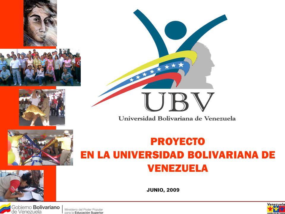 EN LA UNIVERSIDAD BOLIVARIANA DE VENEZUELA