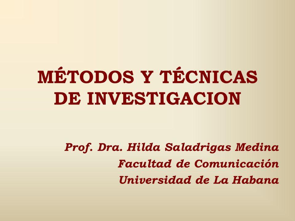 MÉTODOS Y TÉCNICAS DE INVESTIGACION