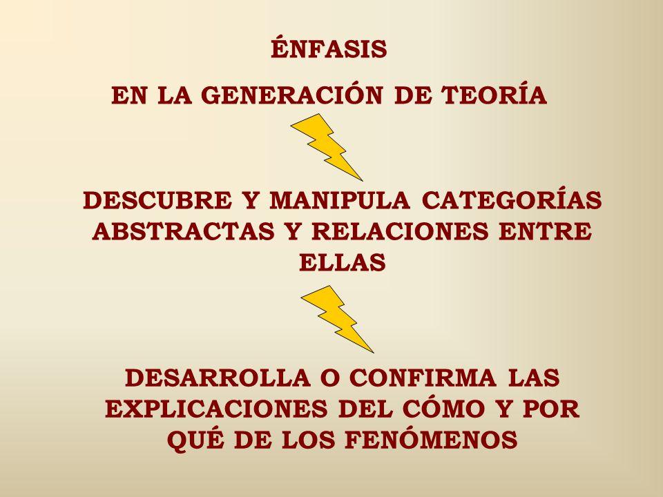 EN LA GENERACIÓN DE TEORÍA