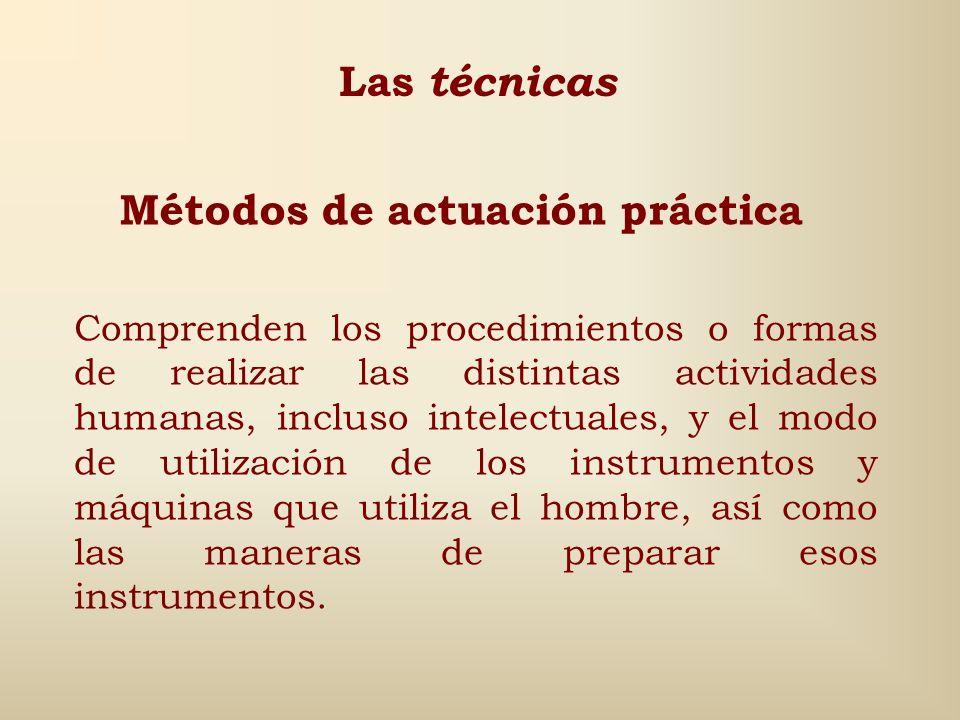 Métodos de actuación práctica