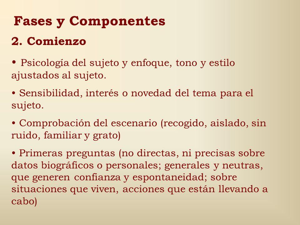 Fases y Componentes 2. Comienzo