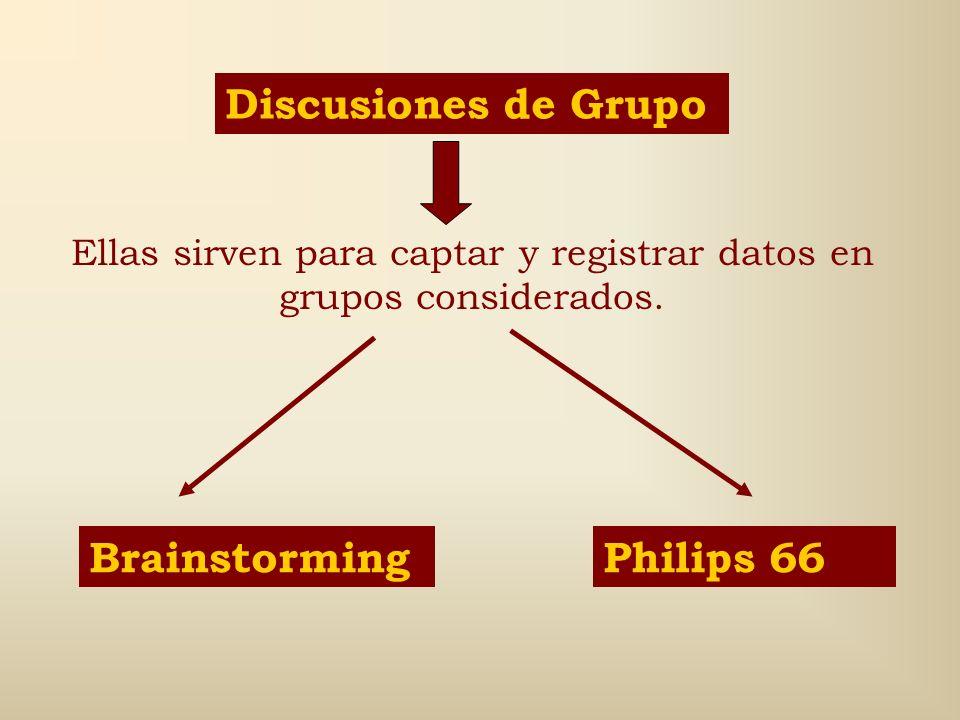 Ellas sirven para captar y registrar datos en grupos considerados.