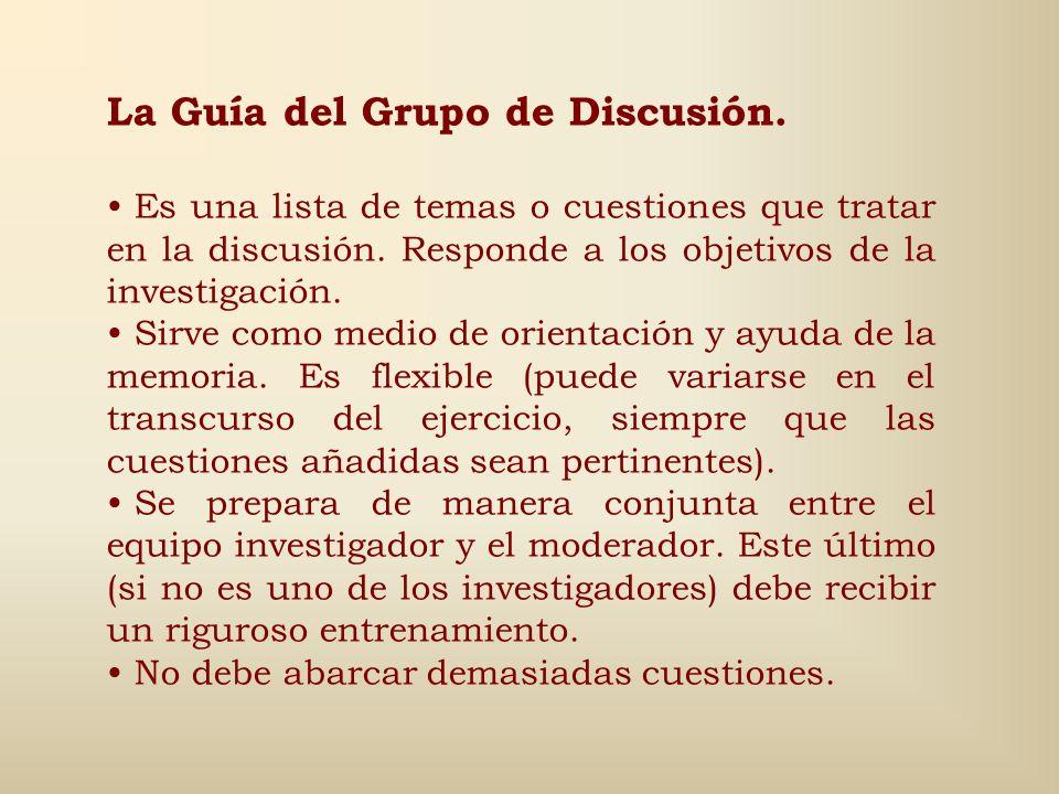 La Guía del Grupo de Discusión.