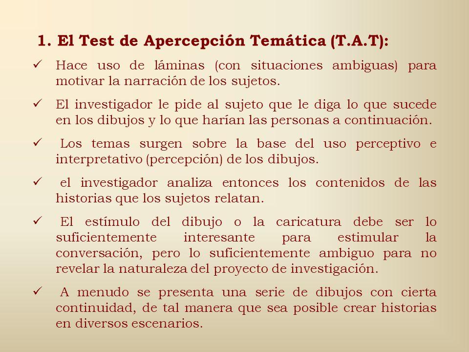 1. El Test de Apercepción Temática (T.A.T):
