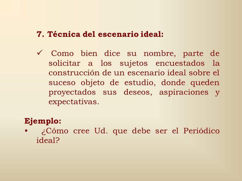 7. Técnica del escenario ideal: