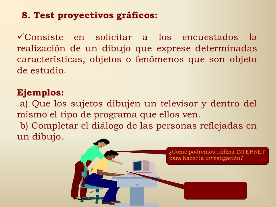 8. Test proyectivos gráficos: