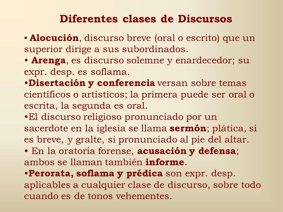 Diferentes clases de Discursos