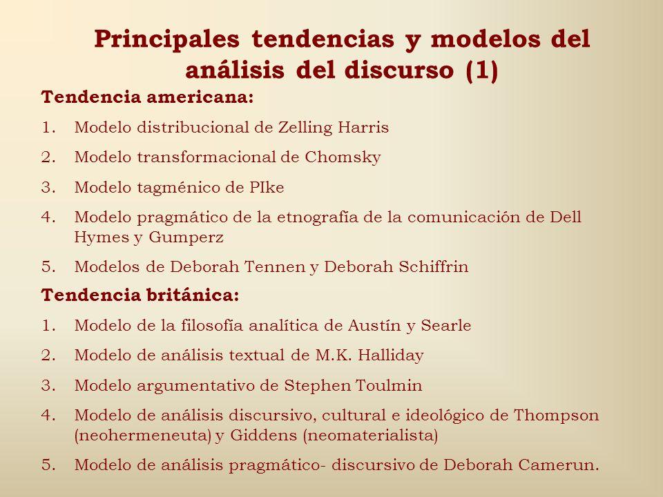 Principales tendencias y modelos del análisis del discurso (1)