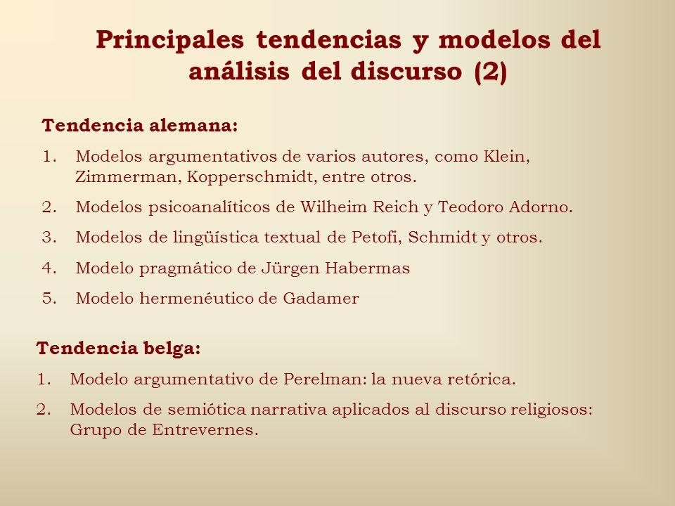 Principales tendencias y modelos del análisis del discurso (2)