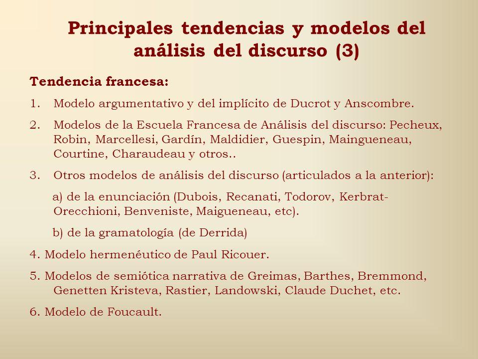 Principales tendencias y modelos del análisis del discurso (3)