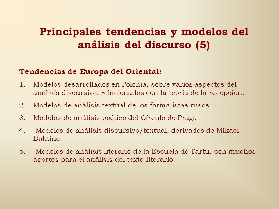 Principales tendencias y modelos del análisis del discurso (5)