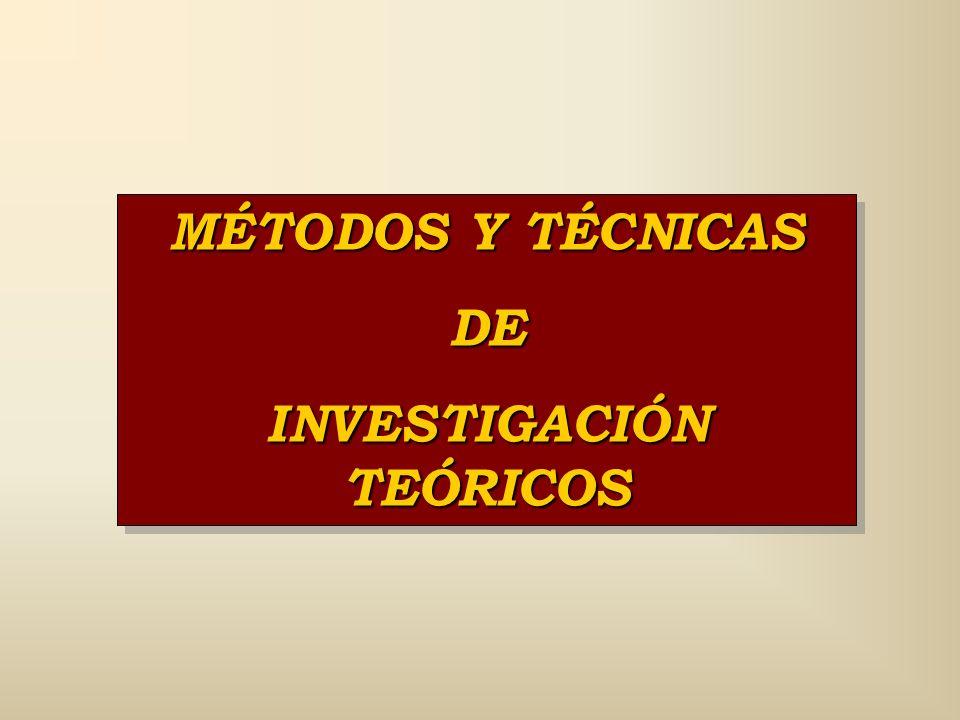 INVESTIGACIÓN TEÓRICOS
