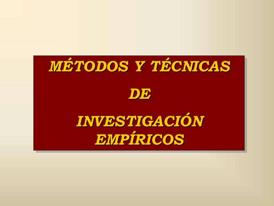 INVESTIGACIÓN EMPÍRICOS