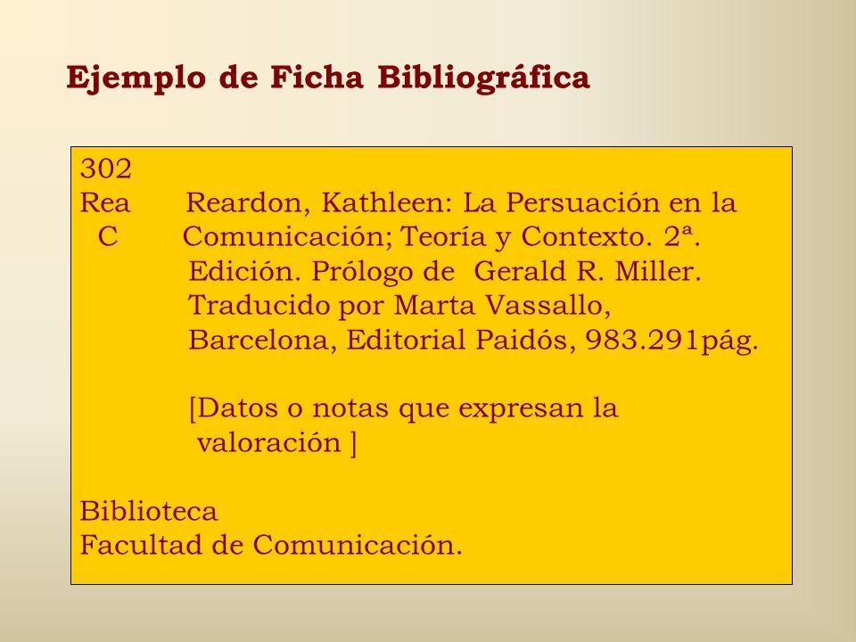 Ejemplo de Ficha Bibliográfica