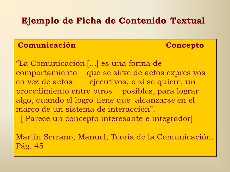 Ejemplo de Ficha de Contenido Textual