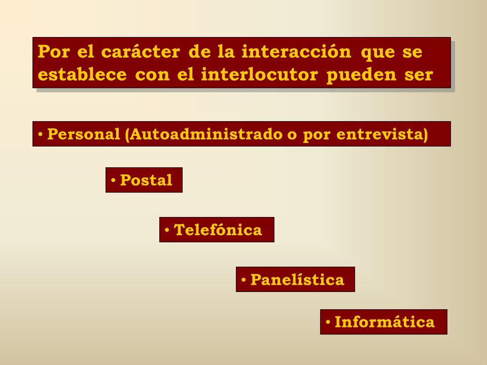 Por el carácter de la interacción que se establece con el interlocutor pueden ser