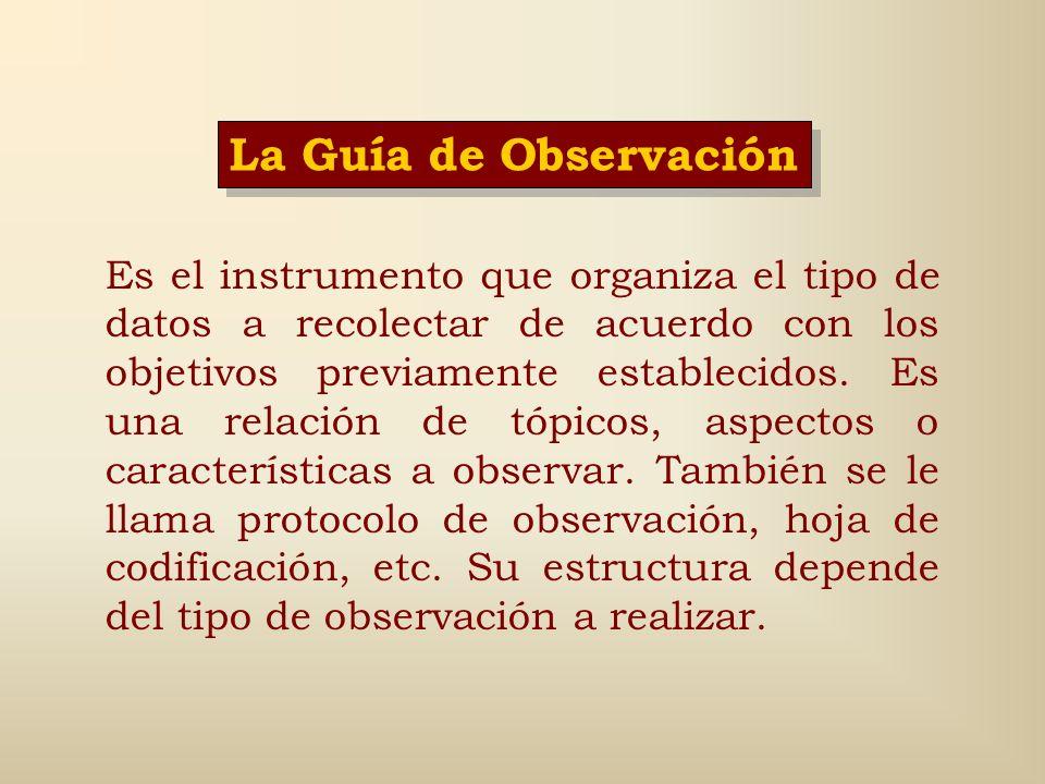 La Guía de Observación