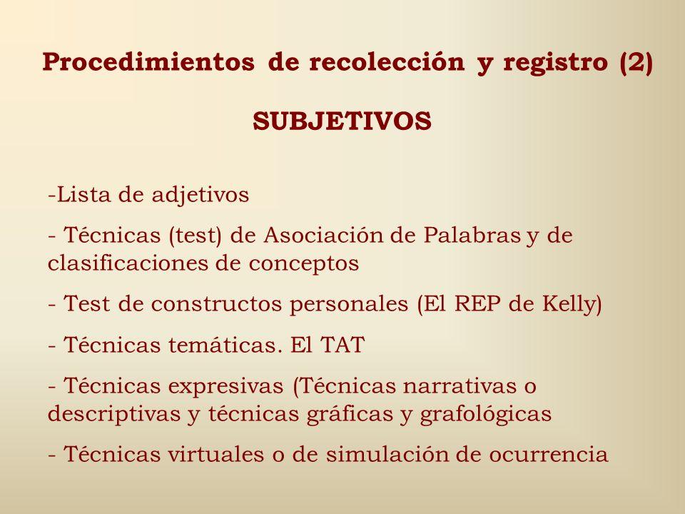 Procedimientos de recolección y registro (2)