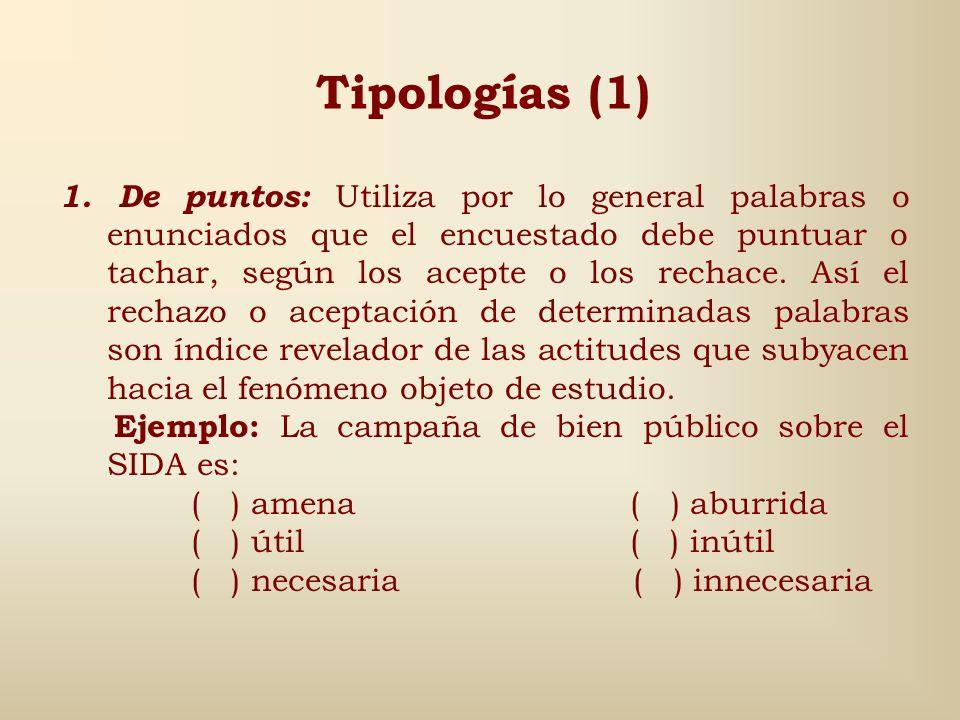 Tipologías (1)