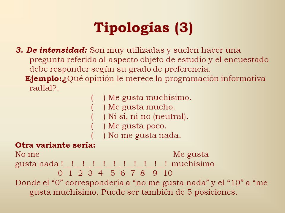 Tipologías (3)