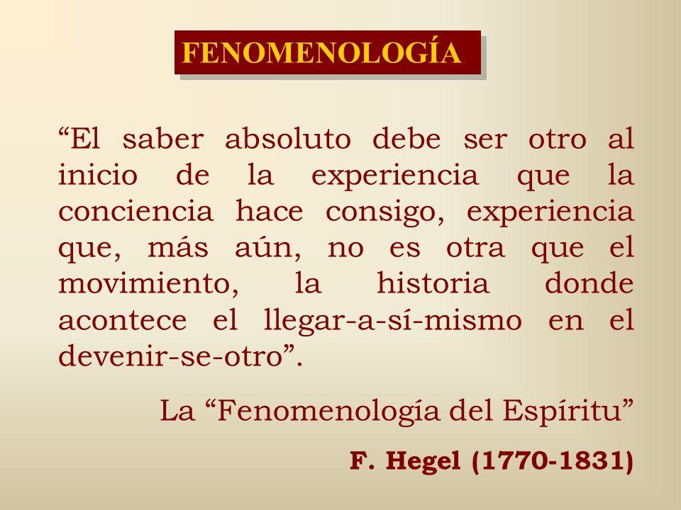 La Fenomenología del Espíritu