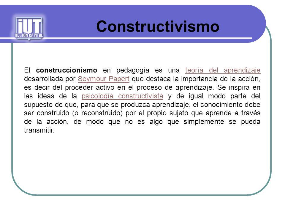 iUT REGIÓN CAPITAL. Constructivismo.