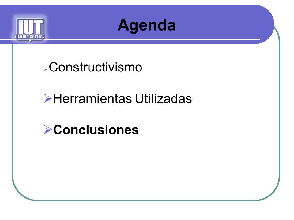 iUT Agenda Herramientas Utilizadas Conclusiones Constructivismo