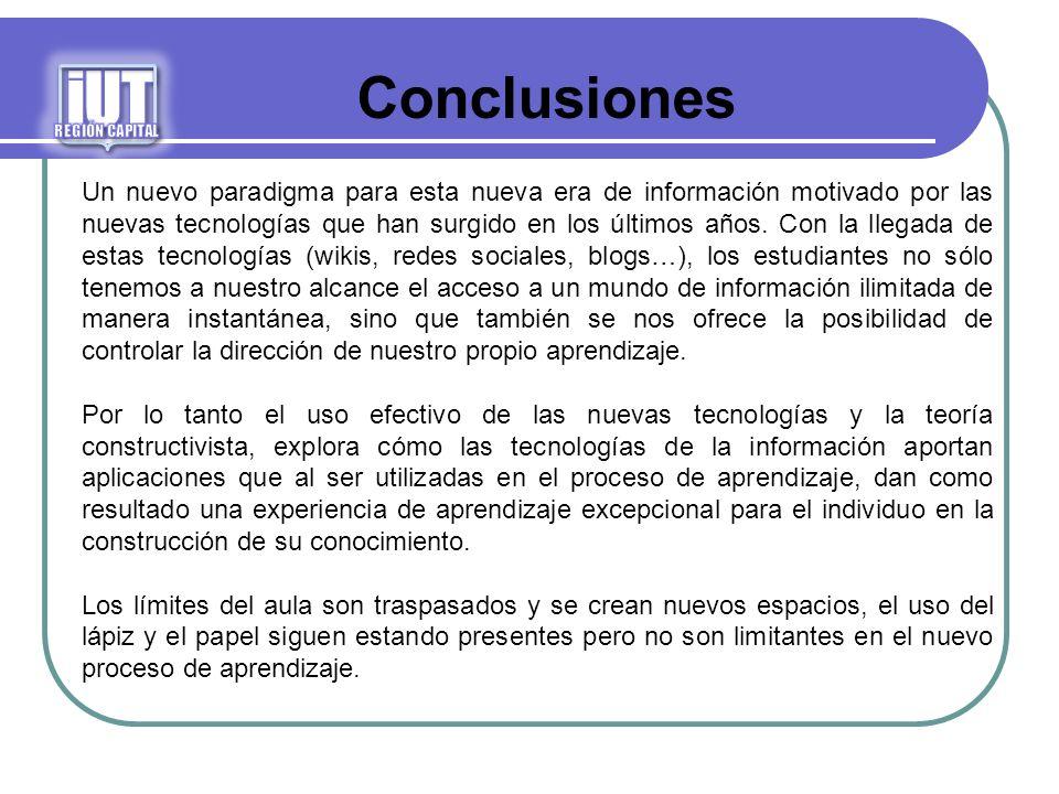 iUTREGIÓN CAPITAL. Conclusiones.