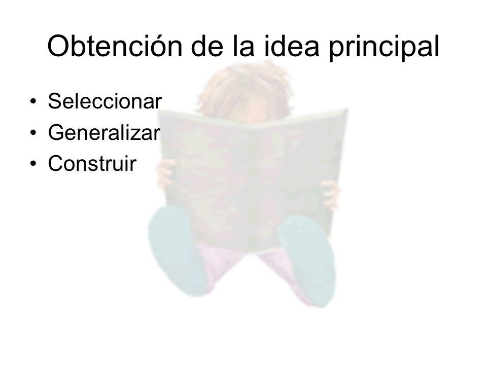 Obtención de la idea principal