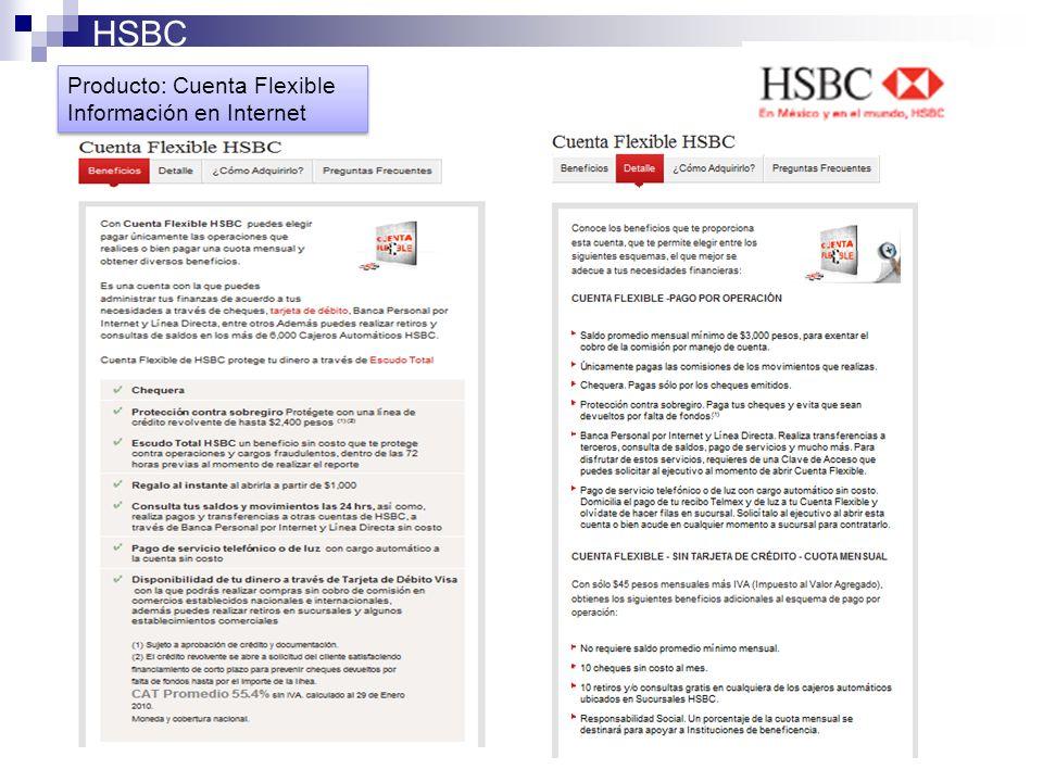 HSBC Producto: Cuenta Flexible Información en Internet