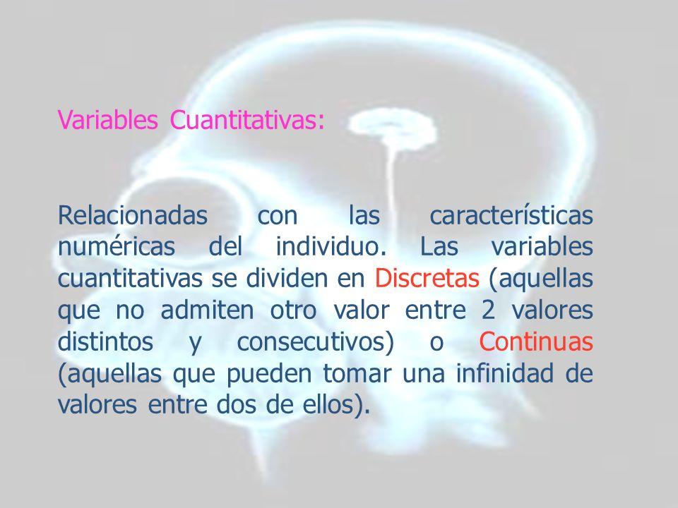 Variables Cuantitativas:
