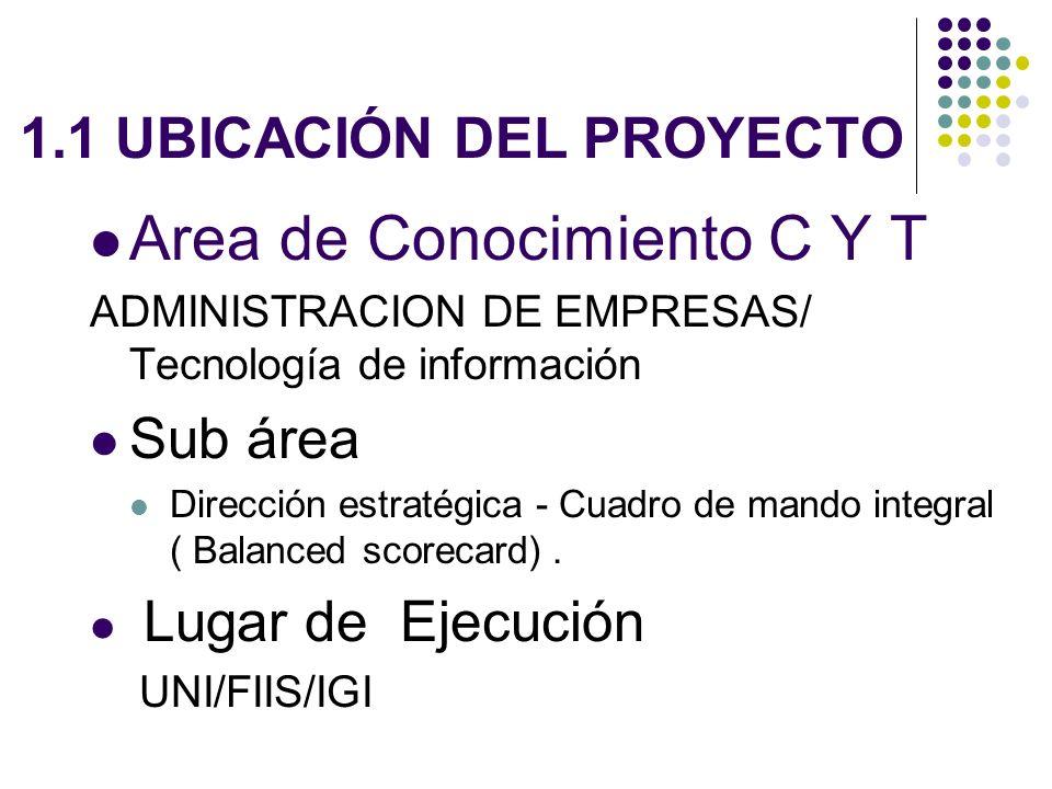 1.1 UBICACIÓN DEL PROYECTO
