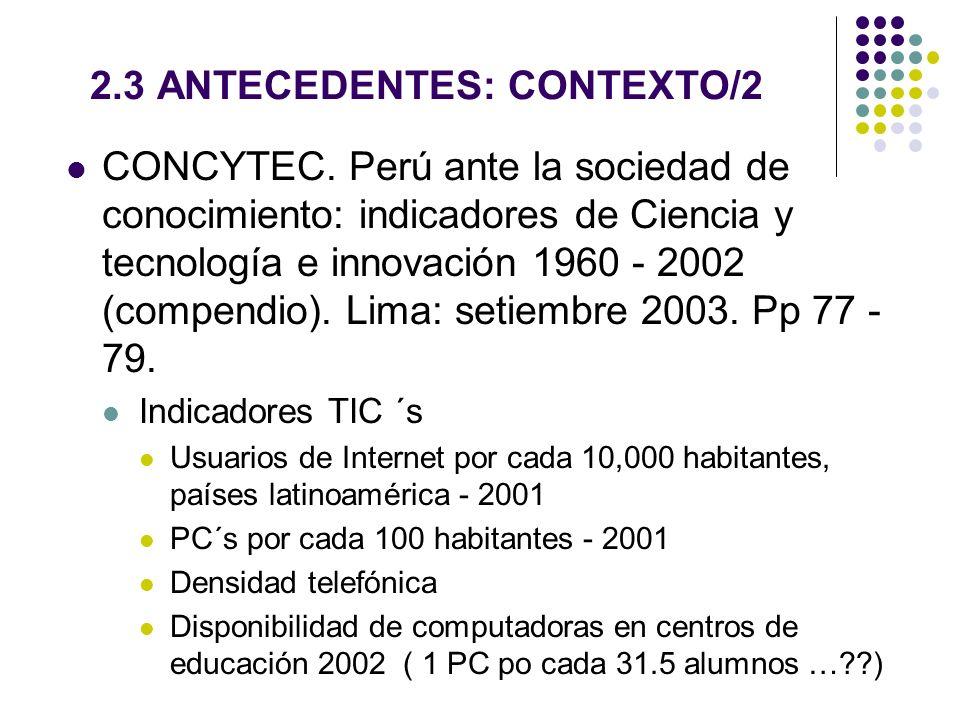 2.3 ANTECEDENTES: CONTEXTO/2
