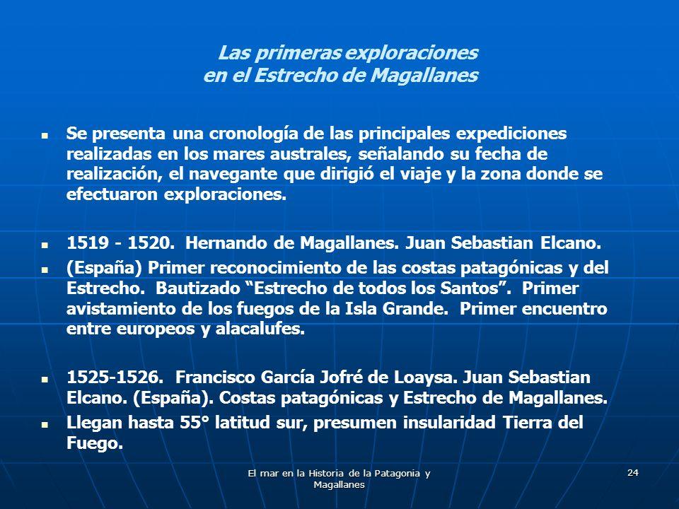 Las primeras exploraciones en el Estrecho de Magallanes