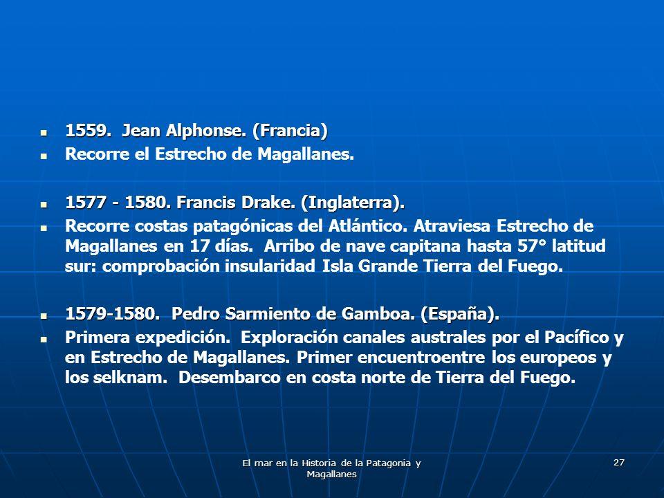 El mar en la Historia de la Patagonia y Magallanes