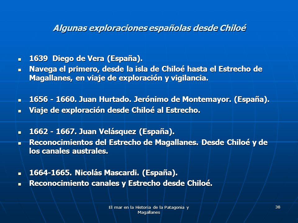 Algunas exploraciones españolas desde Chiloé