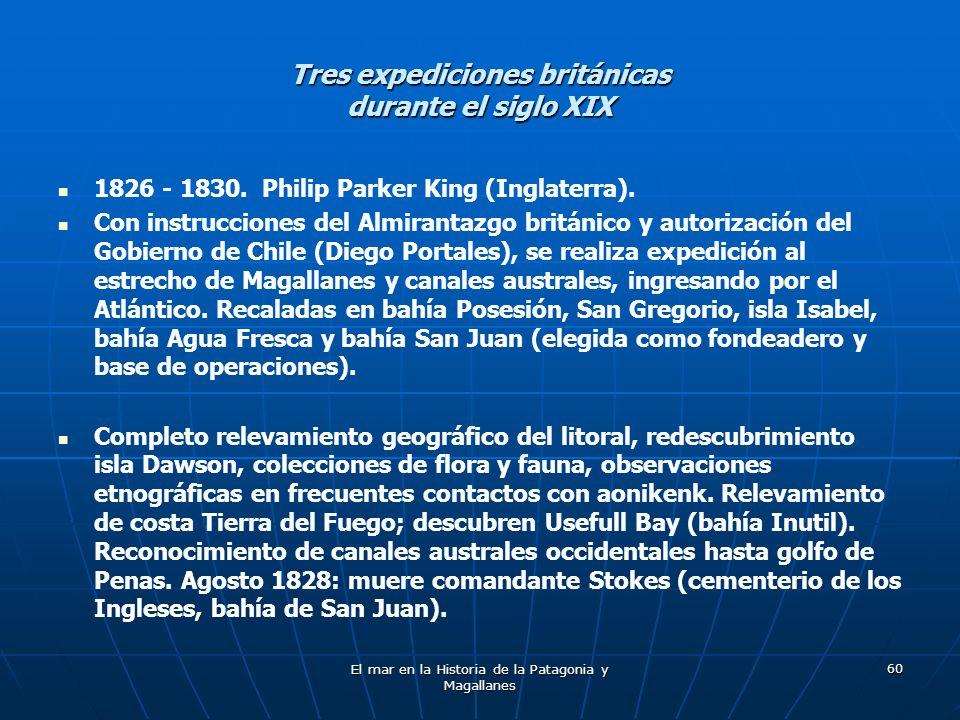 Tres expediciones británicas durante el siglo XIX