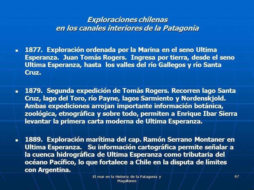 Exploraciones chilenas en los canales interiores de la Patagonia
