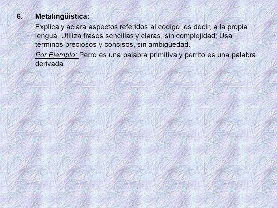 Metalingüística: