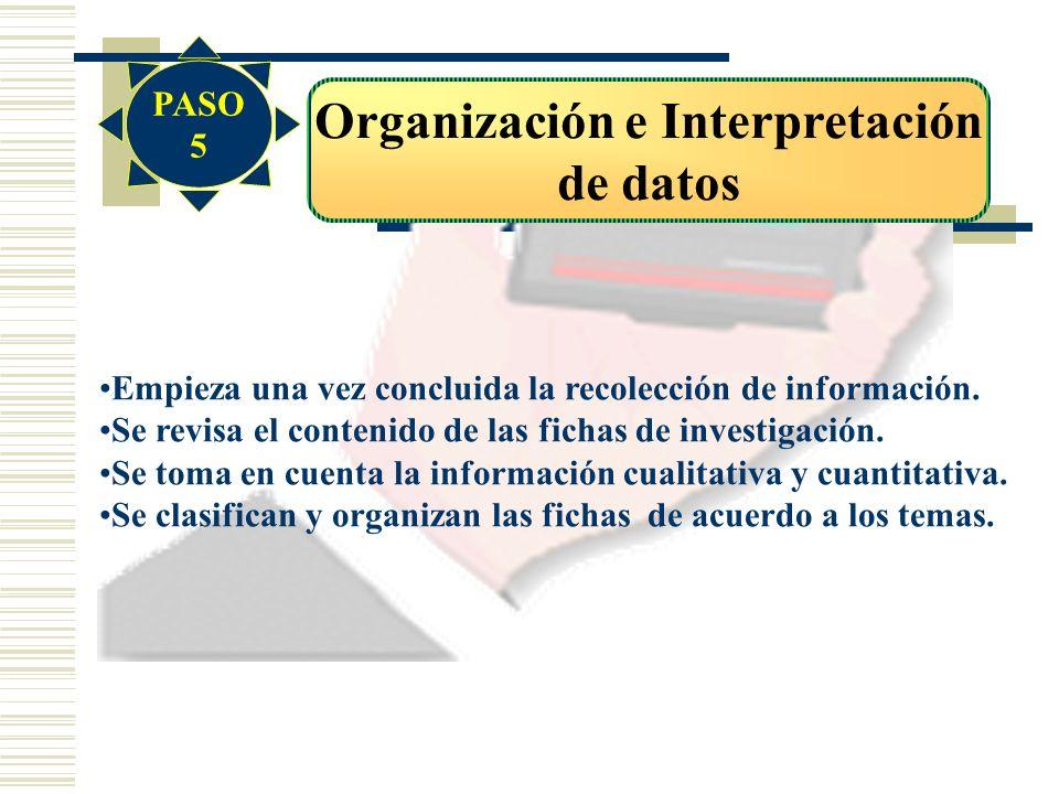 Organización e Interpretación