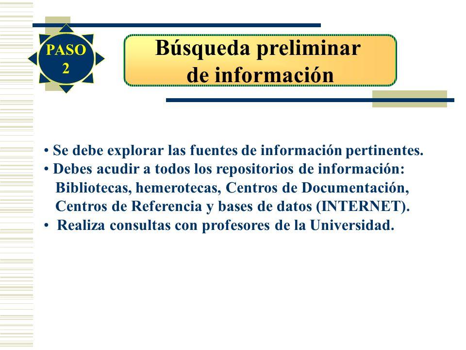 Búsqueda preliminar de información