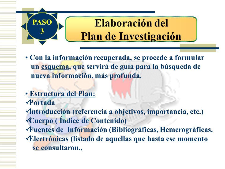 Elaboración del Plan de Investigación