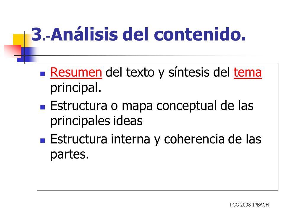 3.-Análisis del contenido.