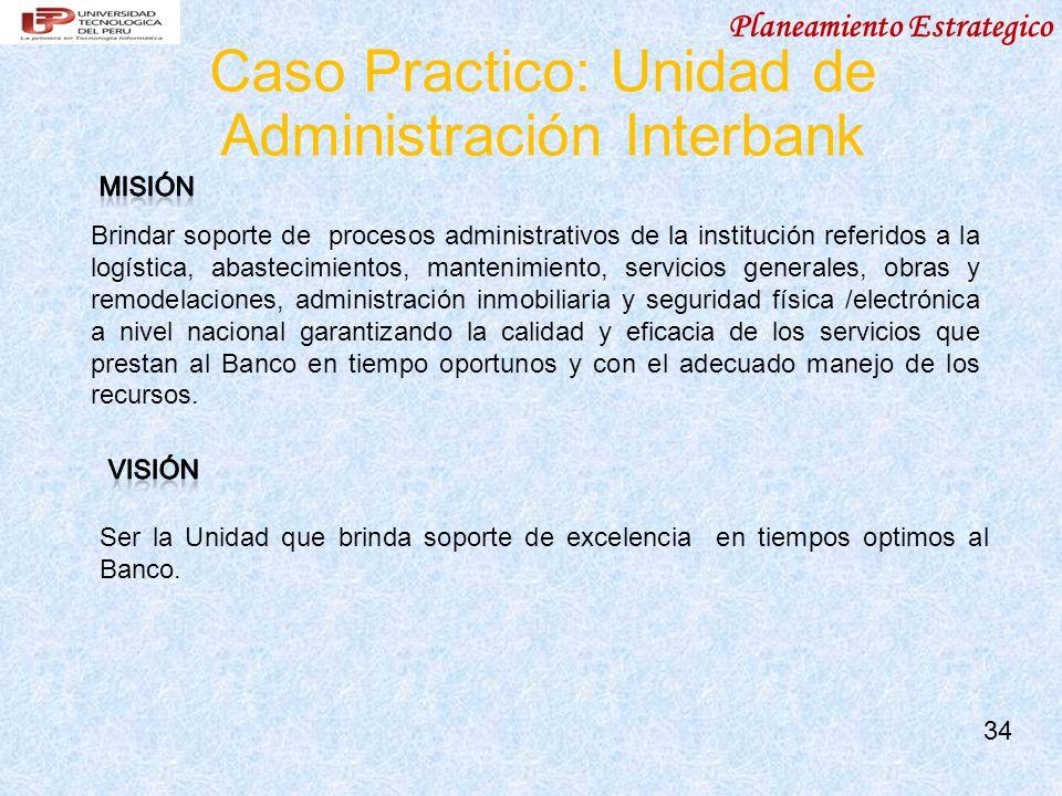 Caso Practico: Unidad de Administración Interbank