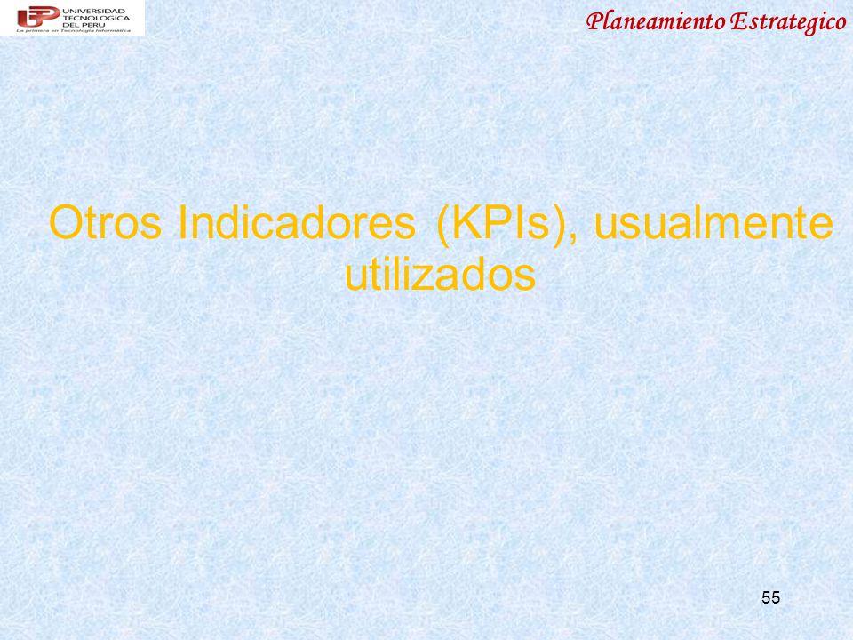 Otros Indicadores (KPIs), usualmente utilizados