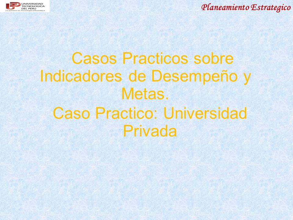 Casos Practicos sobre Indicadores de Desempeño y Metas.